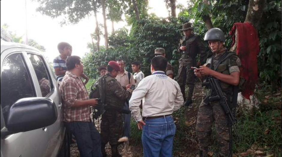 El Ejército de Guatemala y autoridades de Conred llevaron a cabo la coordinación para la búsqueda de la alemana. (Foto: Conred)