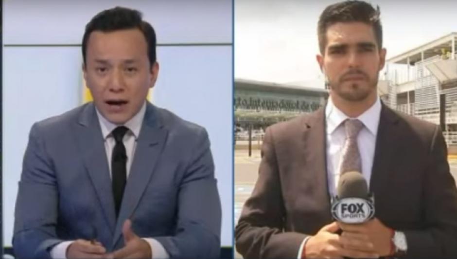 David Medrano (derecha) fue embestido por un automóvil mientras transmitía en vivo para Central FOX