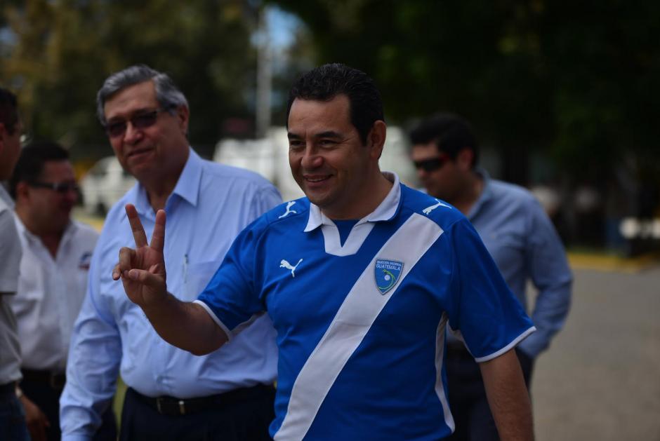 Jimmy Morales junto al candidato a la vicepresidencia, Jafeth Cabrera. (Foto: Archivo/Soy502)
