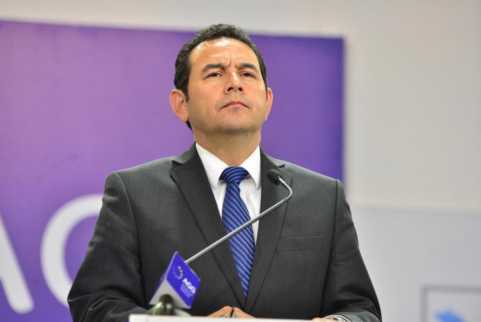 Jimmy Morales durante el debate entre presidenciables, previo a la primera vuelta electoral. (Foto: Archivo/Soy502)