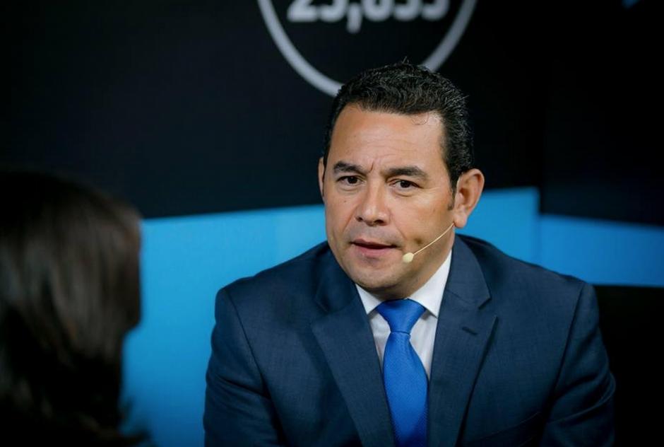 Jimmy Morales, minutos después de enterarse que ganó la primera vuelta electoral, en una entrevista con Soy502. (Foto: Archivo/Soy502)