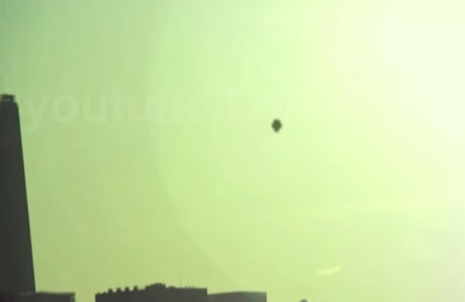 El objeto volador no identificado fue visto sobrevolando el World Trade Center durante la visita del Papa Francisco a Nueva York