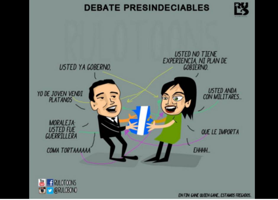 """Los tuiteros realizaron más """"memes"""" durante el debate. (Foto: Twitter)"""