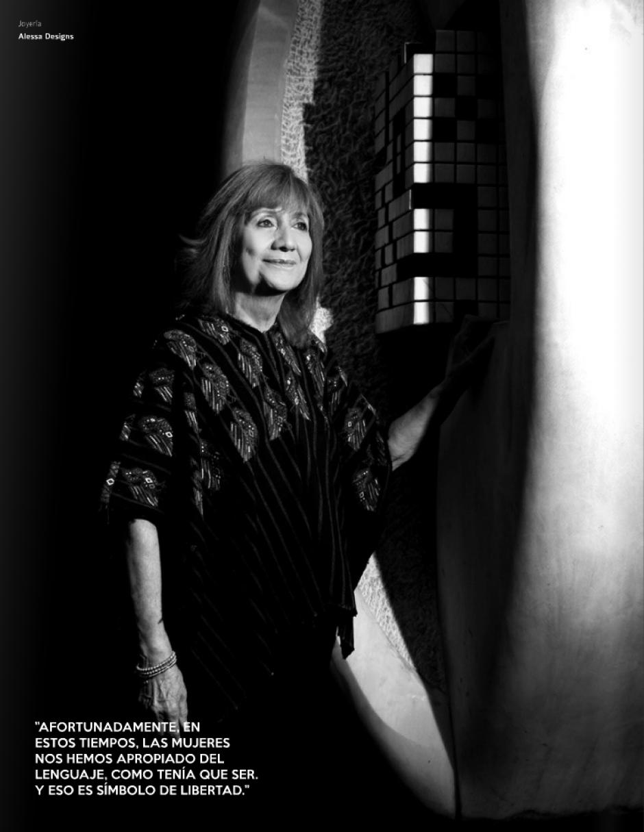 La ministra de Cultura y Deportes, la poeta Ana María Rodas, es otra de las destacadas en la publicación.(Foto: Look Magazine)