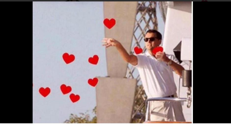 """La famosa imagen de Leonardo Dicaprio en el """"Lobo de Wall Street"""" es ahora popular en los """"memes"""". (Foto: Twitter)"""