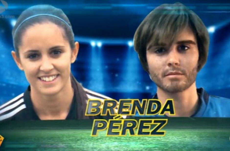 La futbolista española Brenda Pérez se disfrazó de hombre para dar una lección en un juego de fútbol masculino