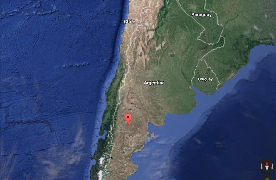 """""""Ha sido una información que se ha recibido, de que 'El Chapo' intentará cruzar la frontera chilena-argentina"""", dijeron las autoridades de Argentina. (Foto: Google Maps)"""