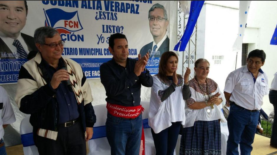 Jimmy Morales se encuentra realizando una gira por los departamentos del país para agradecer a la población por la victoria en las elecciones. (Foto: Equipo de comunicación de Jimmy Morales)