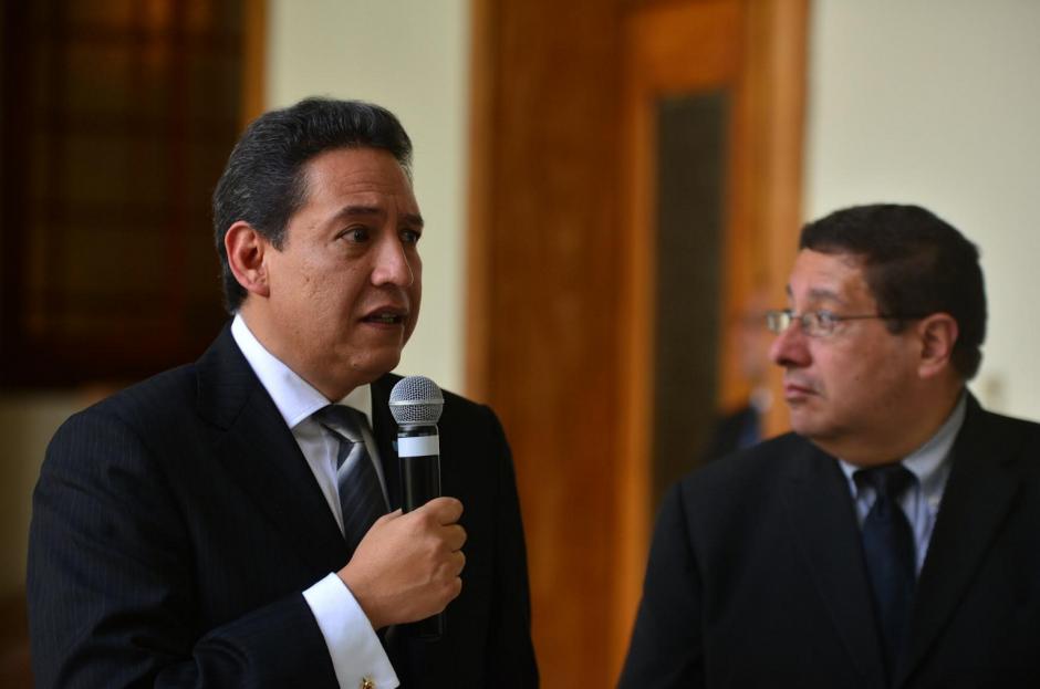 Al finalizar la reunión de Gabinete, los Ministros de Salud y Finanzas brindaron conferencia de prensa. (Foto: Wilder López/Soy502)