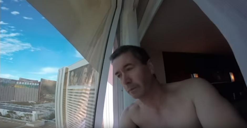 Joseph Griffin usa una cámara GoPro de una forma incorrecta. (Imagen: YouTube/Evan Griffin)