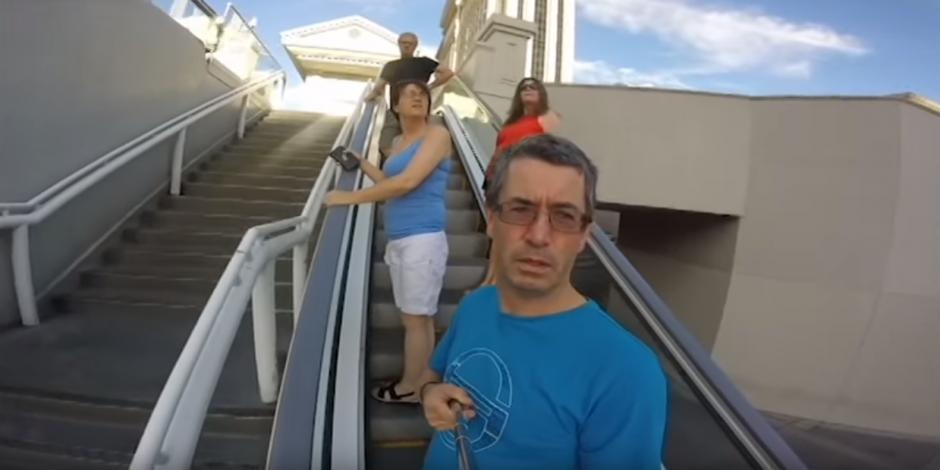 Joseph Griffin no se tomo el tiempo de leer el manual de instrucciones que viene la cámara GoPro.(Imagen: YouTube/Evan Griffin)