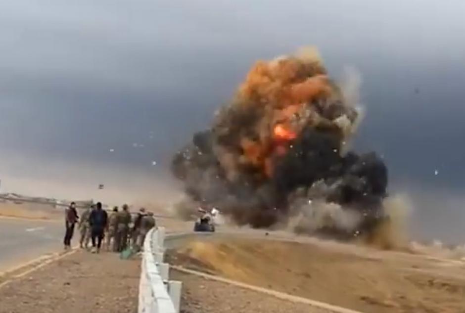 Explosión autobomba video
