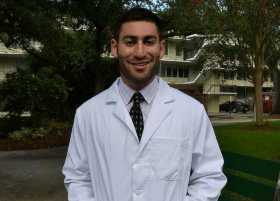 Este es Peter Gold, el estudiante de medicina de 25 años que fue atacado en Nueva Orleans. (Foto: ABCNews)