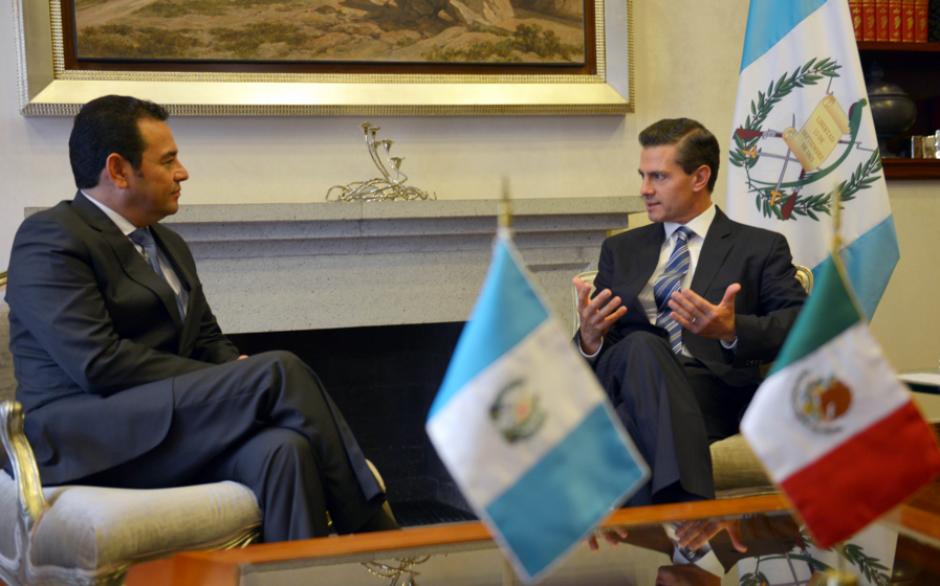 El presidente de México, Enrique Peña Nieto recibió este viernes al presidente electo de Guatemala, Jimmy Morales. (Foto: Presidencia de México)