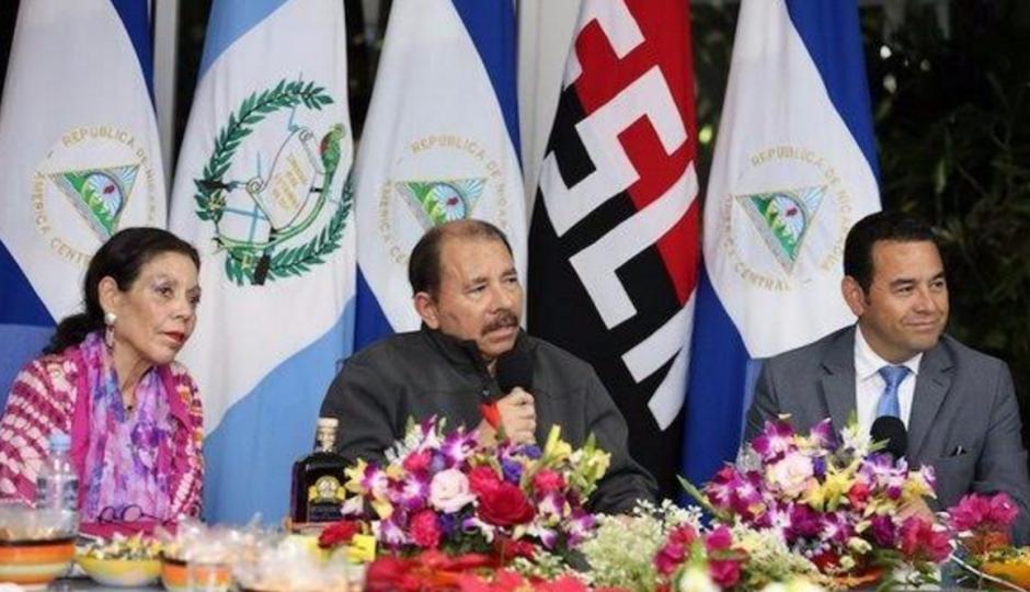 Jimmy Morales celebró un encuentro con el presidente de Nicaragua, Daniel Ortega. (Foto: Presidencia Nicaragua)