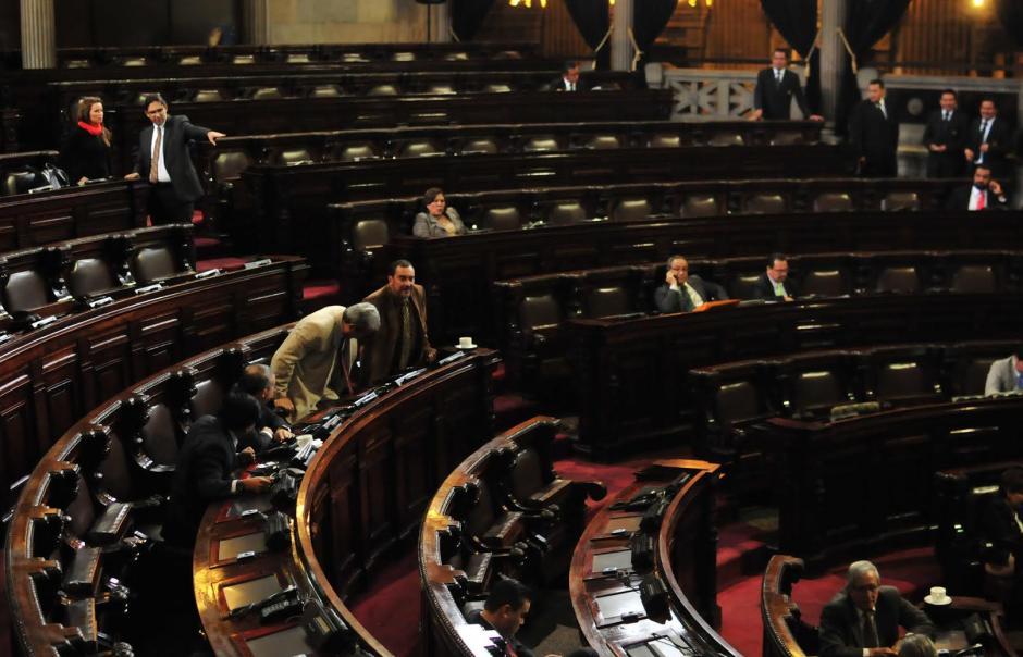 Así lucía el Congreso a la hora que estaba programado que iniciara la sesión. (Foto: Alejandro Balán/Soy502)