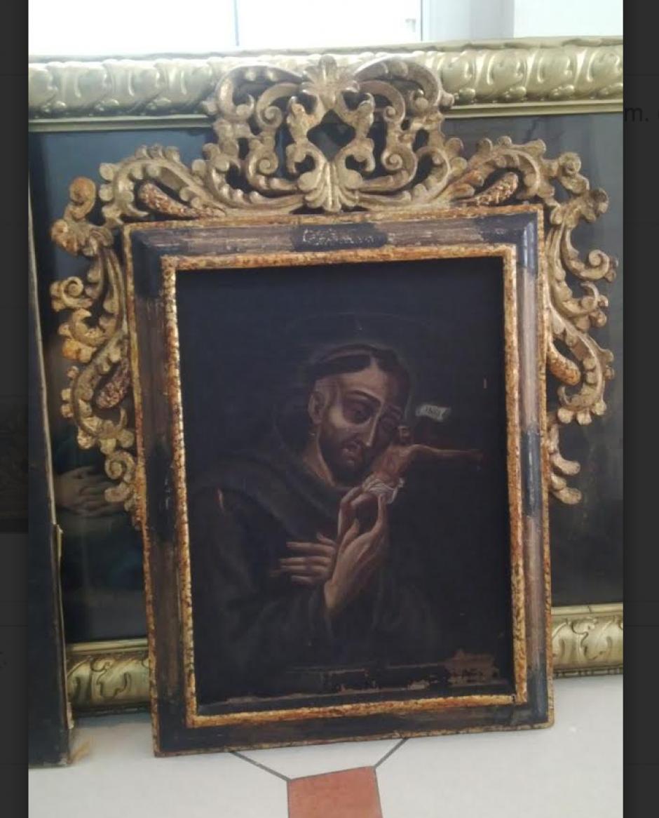 Por ahora, no se sabe el valor que tienen las obras de arte pues se están analizando. (Foto: PNC)
