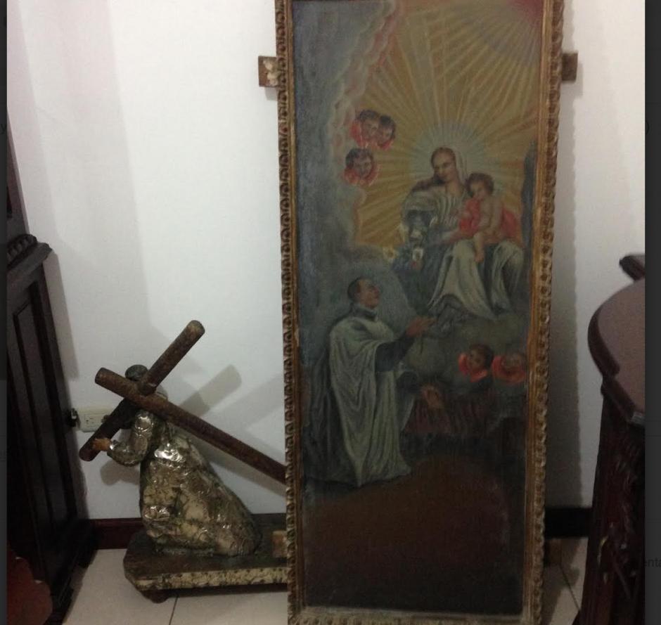 Las obras de arte pertenecerían a una colección privada que fue robada hace algunos años. (Foto: PNC)