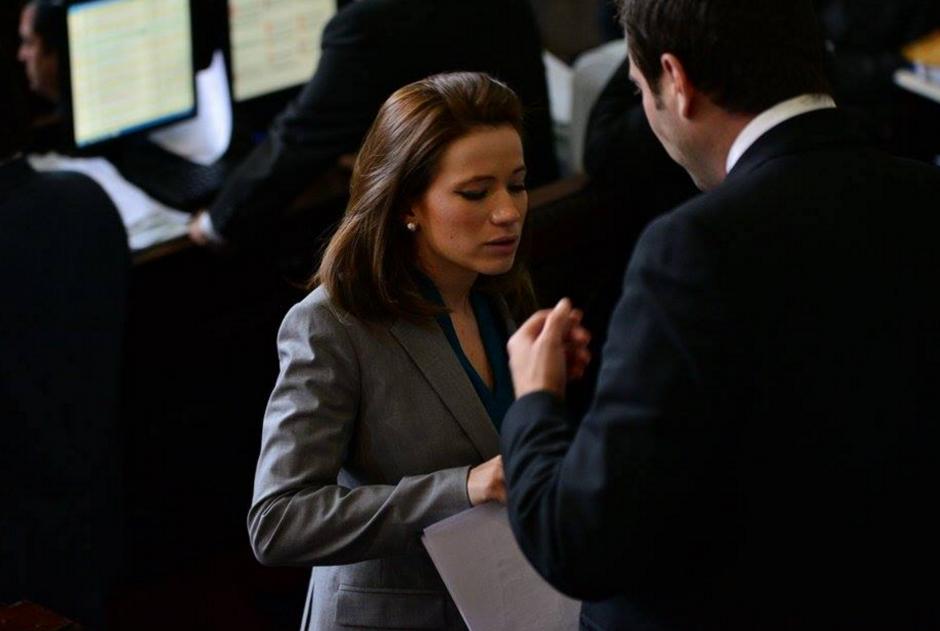 Daniela Beltranena ha participado en la mayoría de sesiones durante el mes que lleva en el Congreso, pero nunca ha pedido la palabra. (Foto: Wilder López/Soy502)