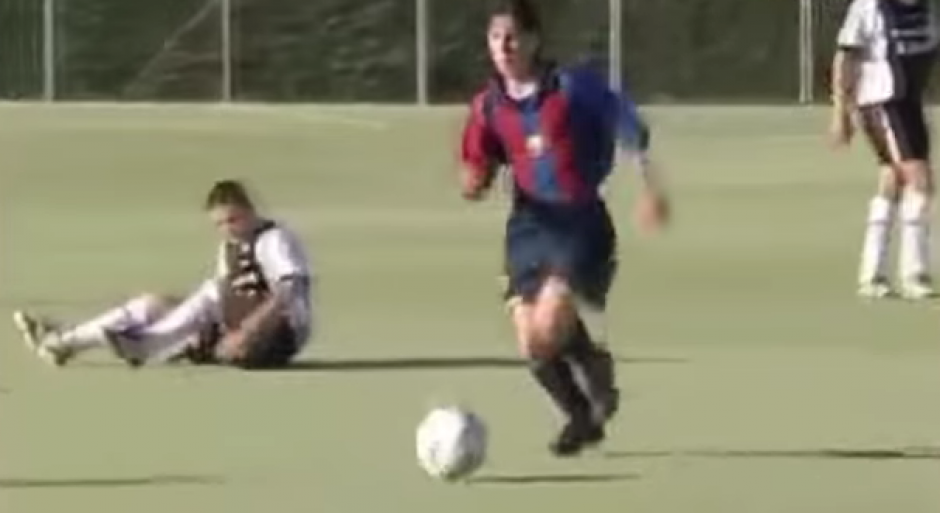 Leo Messi en las fuerzas básicas del Barcelona. (Foto: YouTube)