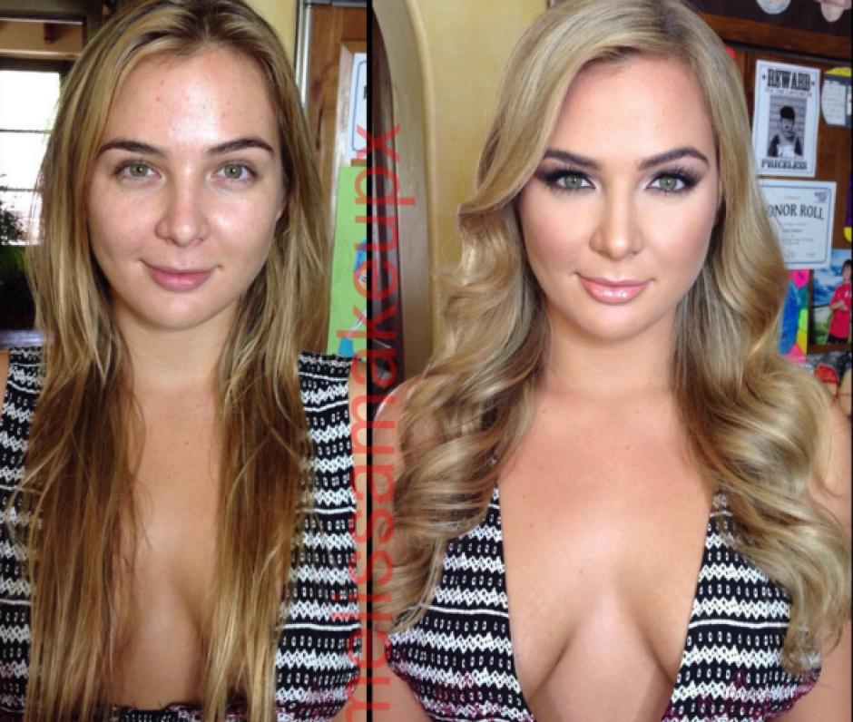 El nombre de la maquillista es Melissa y se está volviendo famosa en Instagram por sus transformaciones a famosas actrices del cine para adultos. (Foto: Instagram)