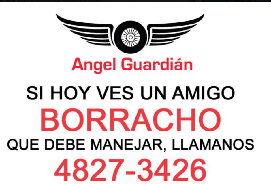 Esta es la campaña que mantienen los amigos de Ángel Guardián para prevenir accidentes. (Foto: Facebook/ÁngelGuardián)