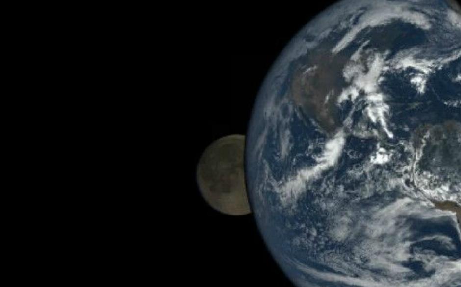 Un eclipse de Luna fue captado desde el espacio