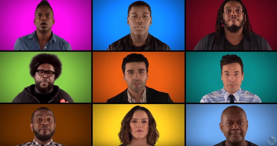 Los actores de Star Wars cantan en el show de Jimmy Fallon. (Imagen: Jimmy Fallon/YouTube)