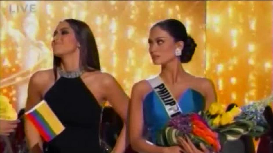 Miss Filipinas no puede creer el error que la había dejado sin la corona de Miss Universo