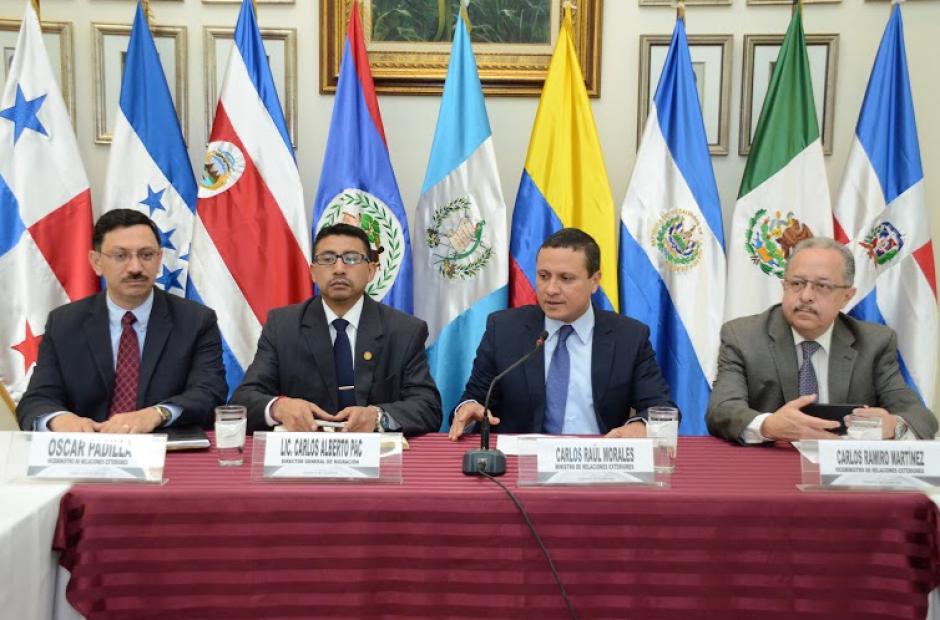 Representantes de Guatemala, Belice, El Salvador, Honduras, Costa Rica,Panamá y México, así como de la Organización Internacional para las Migraciones dieron un paso grande para la solución de los migrantes cubanos. (Foto:  Cancillería Guatemala)