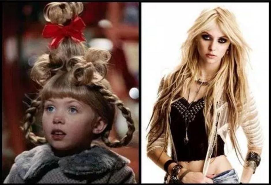 Taylor Momsen tenía 7 años cuando grabó El Grinch y ahora tiene al menos 21. (Foto: sopitas.com)