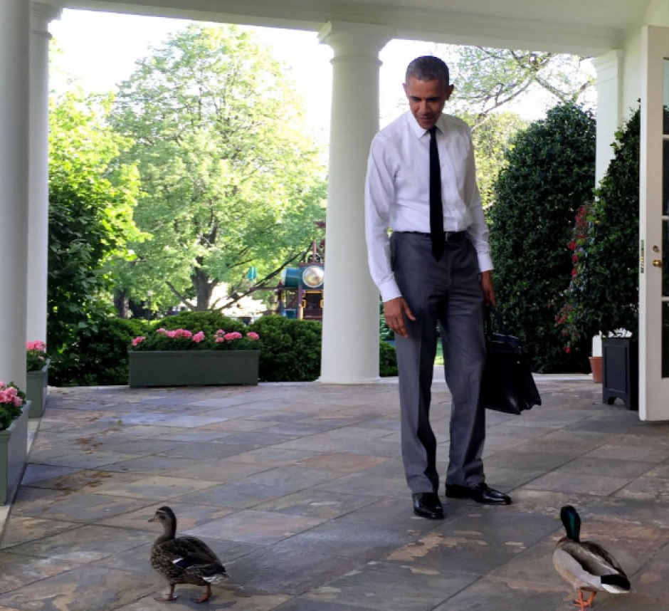 Barack Obama antes de ingresar a la Casa Blanca. (Foto: @PeteSouza)