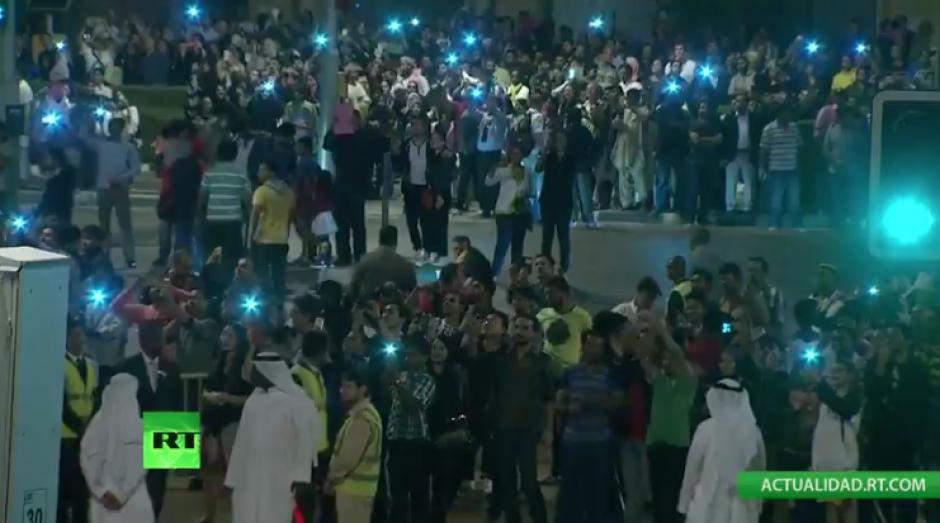 El incendio no canceló las actividades para celebrar el Año Nuevo en Dubai. (Foto: Actualidad RT)