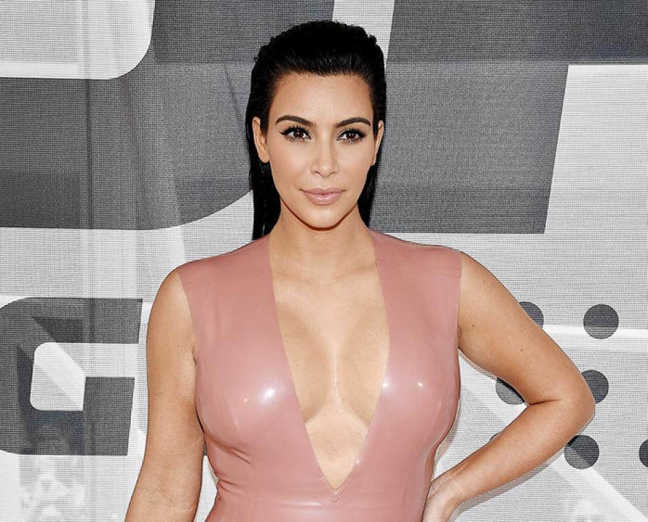 Kim Kardashian en un evento publicitario en Nashville. (Foto: People)