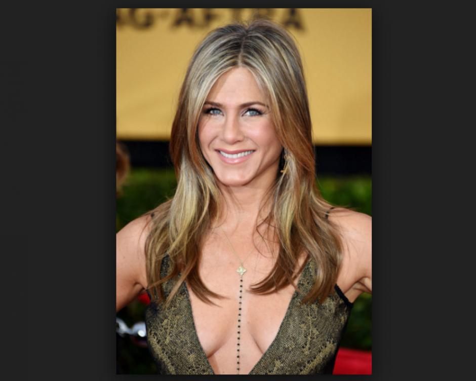 Jennifer Aniston, la actriz en los premios SAG, que se llevaron a cabo en enero 2015 en Los Ángeles. (Foto: People)