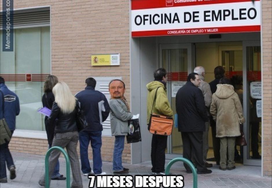"""Benítez fue destituido del Real Madrid y los """"memes"""" se hicieron presentes para decirle adiós. (Imagen: memedeportes.com)"""