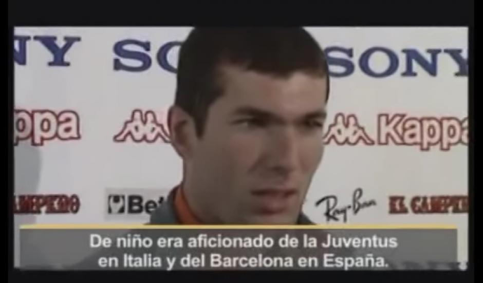 Zidane de niño era fan de FC Barcelona foto