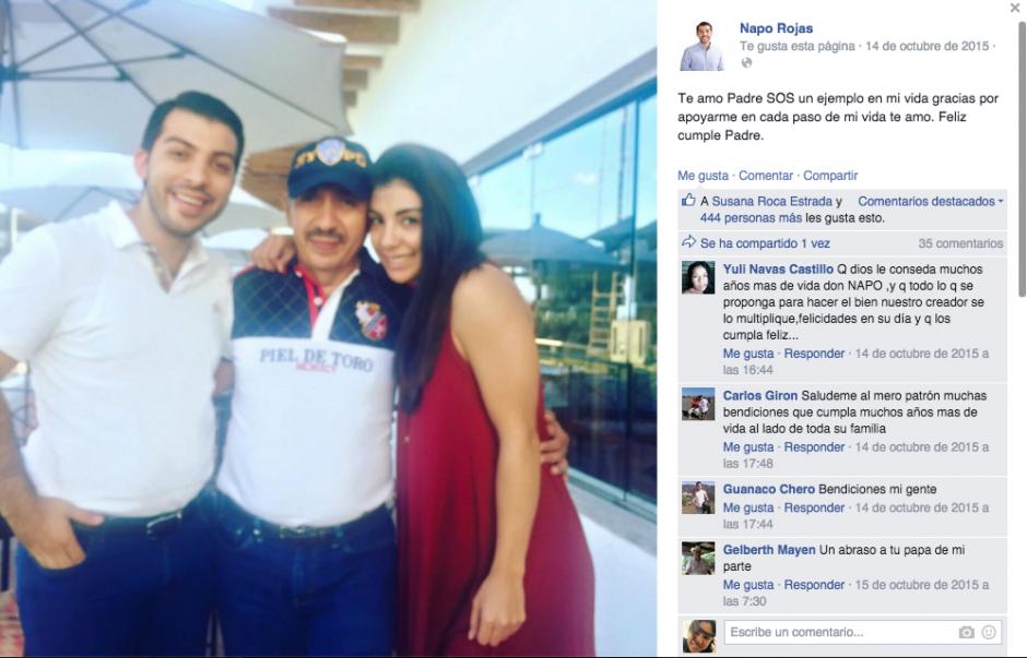 """El diputado le escribió en redes sociales a su padre """"sos un ejemplo en mi vida"""". (Foto: Facebook)"""