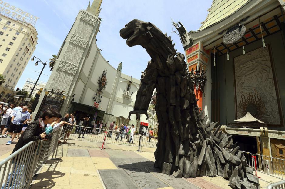 Una escultura de seis metros de Gozilla en Hollywood (EE.UU.). (Foto: EFE/Archivo)