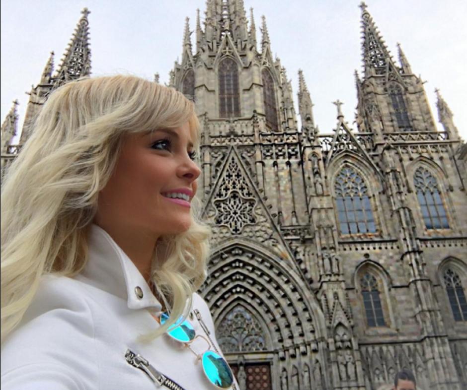 La modelo brasileña, Jhenny Andrade, presume sus fotos en Barcelona. (Foto: Jhenny Andrade)