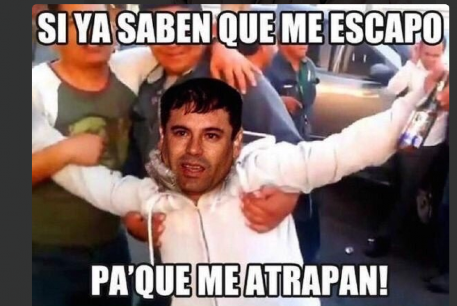 Esta peculiar imagen de un borracho fue utilizada para viralizar la captura del Chapo. (Foto: Twitter/@REFEREE_MEX)