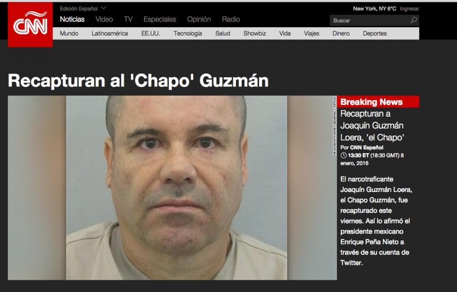 La portada de CNN en español también apuntaba sobre la información oficializada por el presidente de México. (Foto: Soy502)