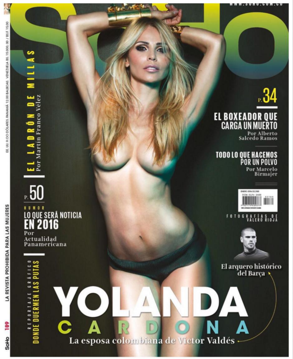 Yolanda Cardona, mujer de Víctor Valdés, posa muy sensual para Soho Colombia. (Foto: Yolanda Cardona)