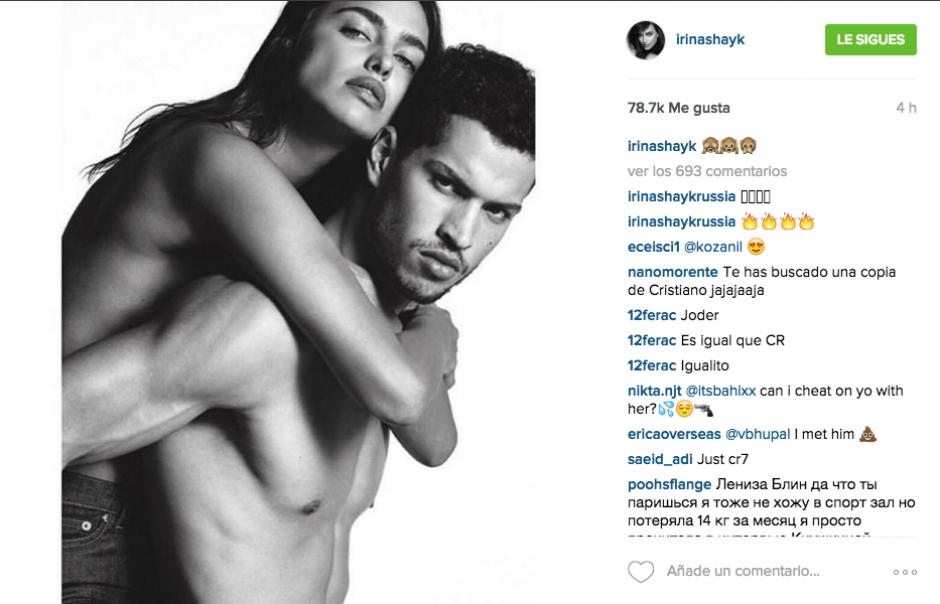 La modelo rusa aparece junto a RicardoTisci en las sensuales fotografías. (Foto: Instagram Irina Shayk)