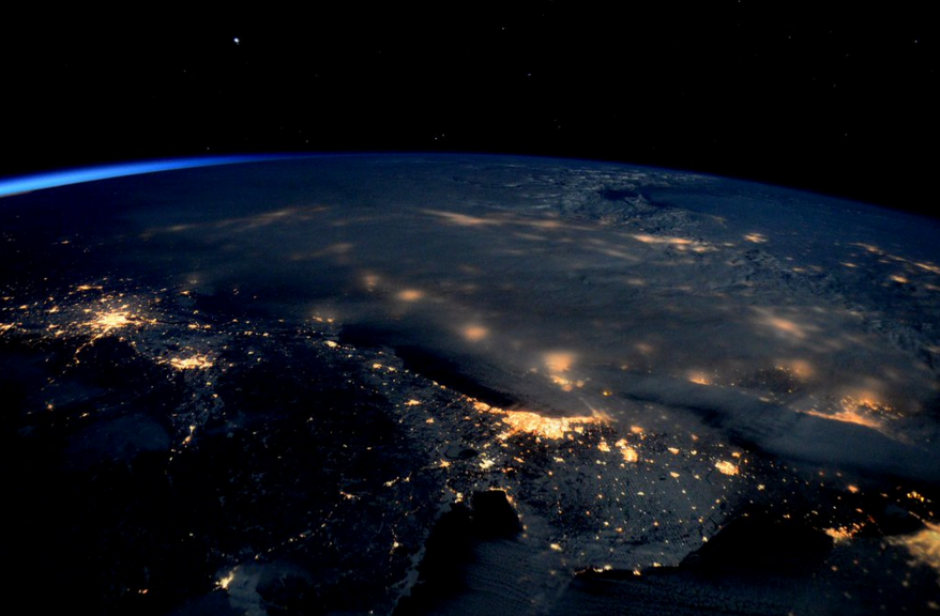 La tormenta gigante de nieve era claramente visible desde la Estación Espacial. (foto: Twitter)