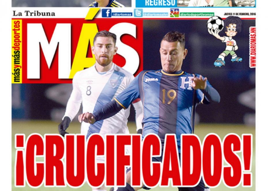 Guatemala 3-1 Honduras molestia de medios foto