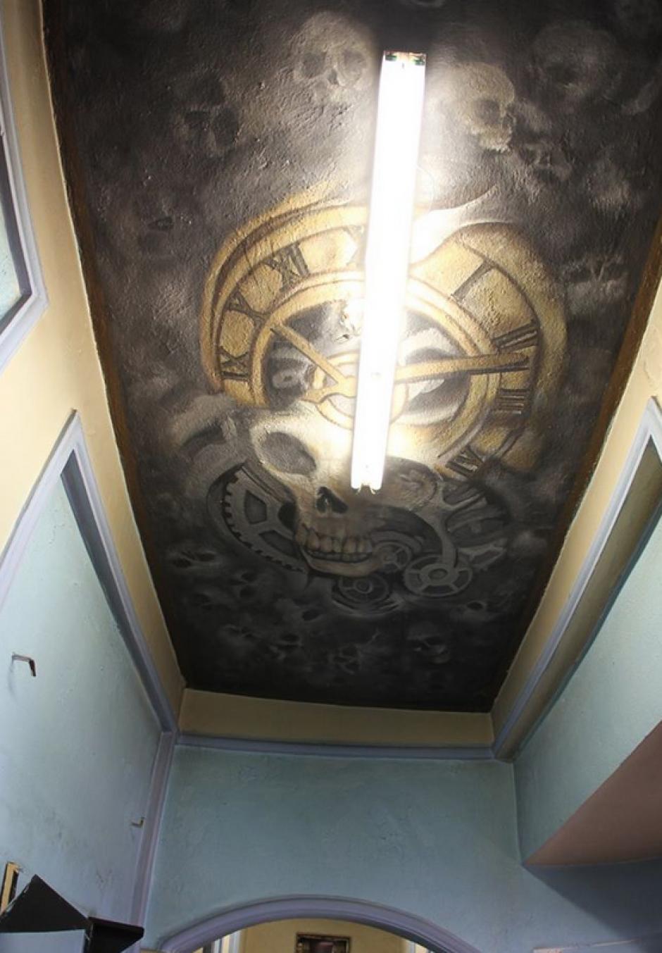 En algunos espacios destacaban los dibujos hechos por los reos. (Foto: Comunicación Social del Estado de Nuevo León)