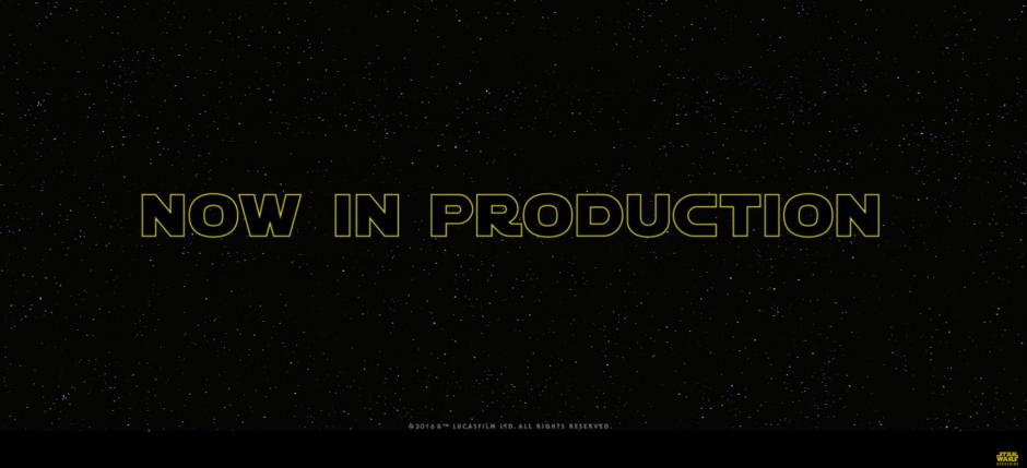 Con esta imagen se informa que ya inició la producción del Episodio VIII.