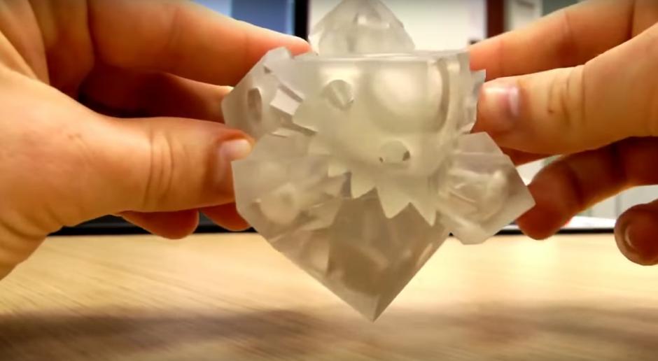 La perfecta conexión entre cada una de las piezas de un moderno cubo de Rubik. (Imagen: Captura de YouTube)