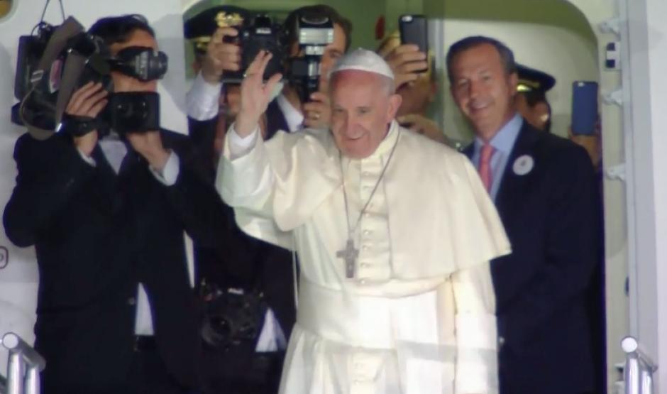 El papa Francisco se despidió así de México luego de cinco días de agenda. (Foto: CNN)